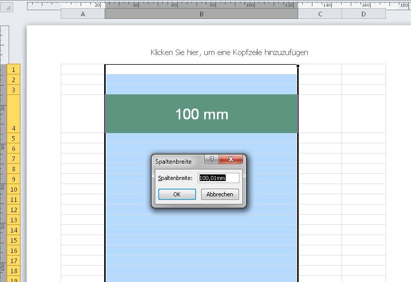 Pixel, Point und Zentimeter in Excel | Beiträge zur empirischen ...